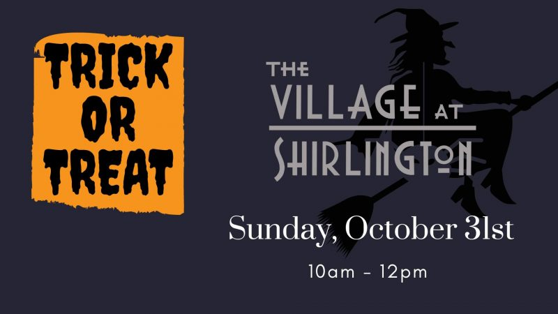 Trick Or Treat At The Village on October 31 from 10am - 12pm